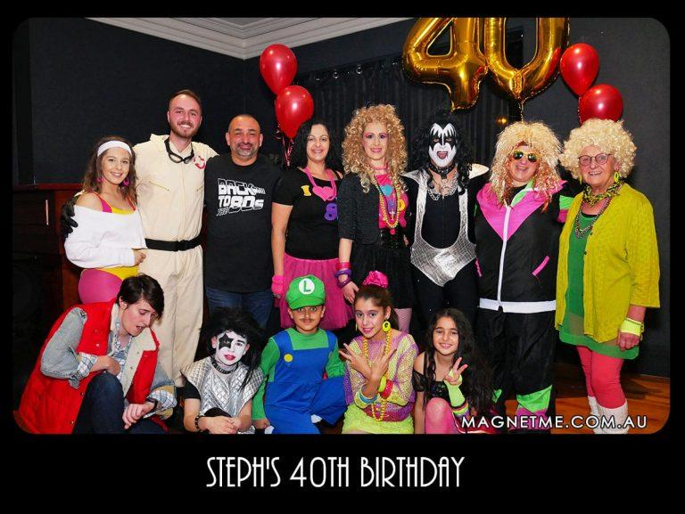 Dress up party fun for a 40th