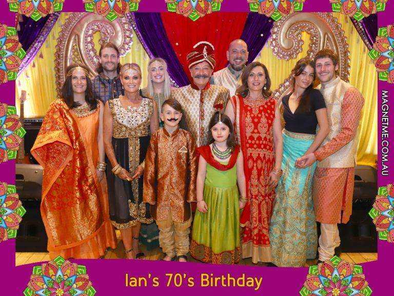 70th Birthday Party with photo magnets