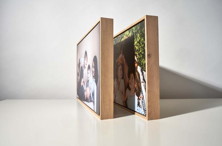 Floating Photo on a Wooden Frame Magnet-Me