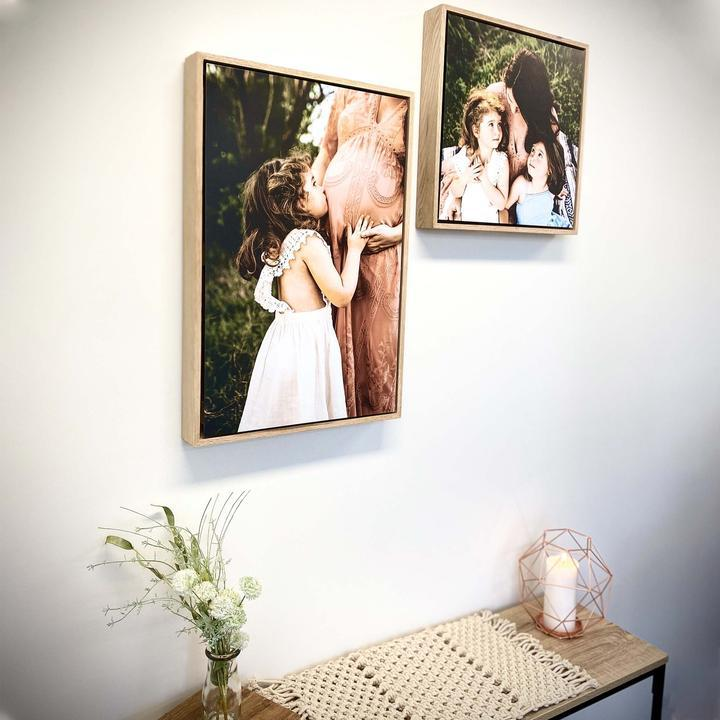 Floating Photo on a Wooden Frame
