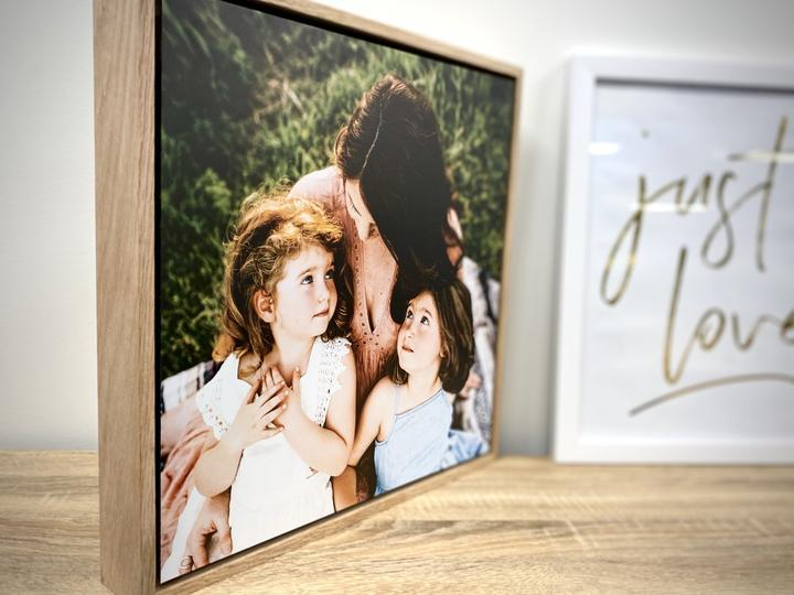 Floating Photo wall design