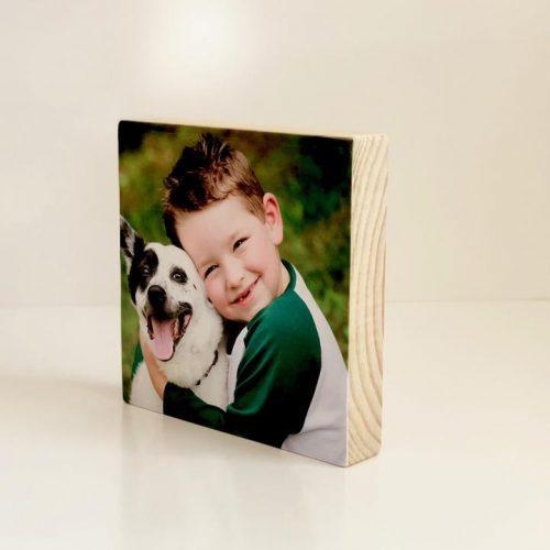 Pic on Wood – Large Pine Square